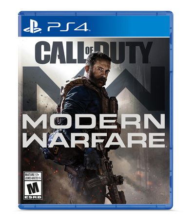 Call of Duty Modern Warfare video game for PlayStation with CIA Officer Alex on the cover art