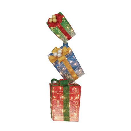 Holiday time Stacking Gift Box Sculpture - image 1 of 1