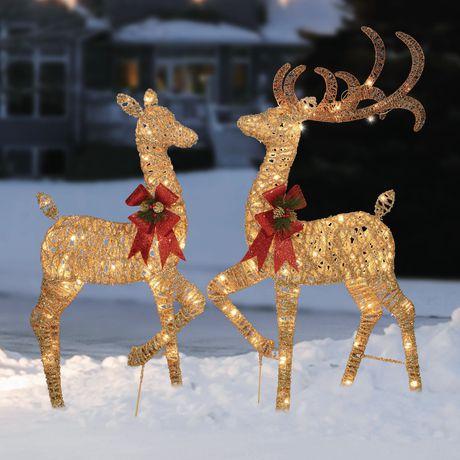 Ens. de chevreuils décoratifs scintillants Holiday Time - image 1 de 1