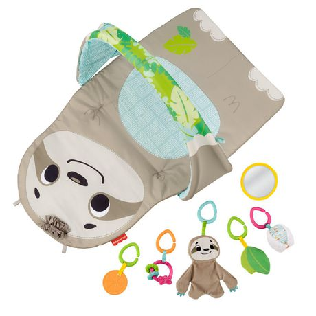 Infant Activity Mat with Toys for Tummy Time and Play Fisher-Price Ready to Hang Sensory Sloth Gym