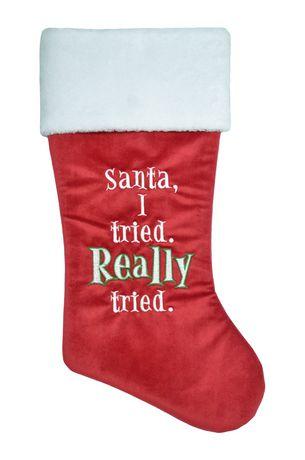 Chaussettes de Noël brodé Holiday time - image 1 de 1