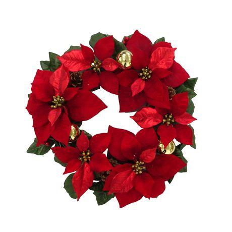 Guirlande de Poinsettia Holiday time en rouge - image 1 de 1