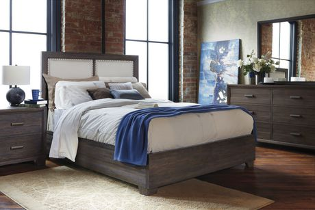 Shermag Monet Bedroom Collection Queen Size Cocoa Finish