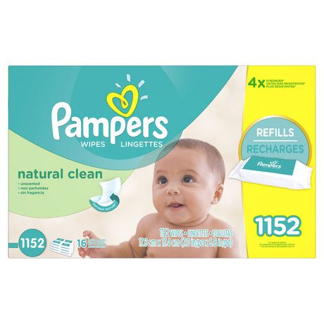 Pampers Baby Wipes Natural Clean 16x Refill Walmart Canada