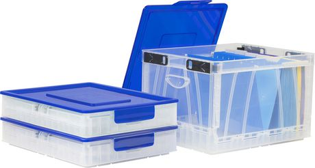 Storex Folding Storage Cube With Lid