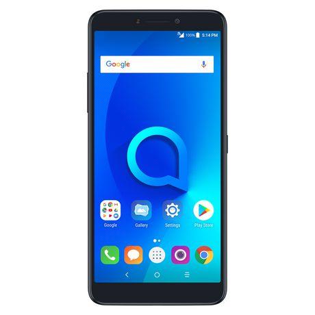 Alcatel 3V 16GB Android 8.0 Oreo Spectrum Black - image 1 of 8