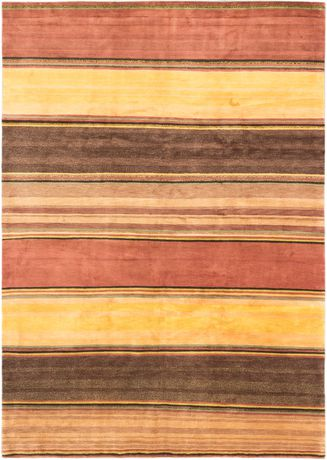 "eCarpetGallery Hand Knot Aurora Copper Brown Wool Rug 8'0""x11'0"" - image 1 of 4"