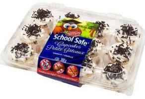 School Safe Mini Vanilla Cupcakes