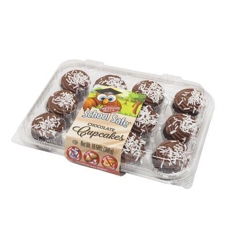School Safe Mini Chocolate Cupcakes