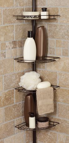 Hometrends Tub And Shower Tension Pole Caddy 4 Shelf Oil