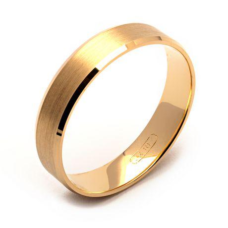 Jonc d'alliance en or jaune de 10 ct de Rex Rings pour hommes - image 1 de 1