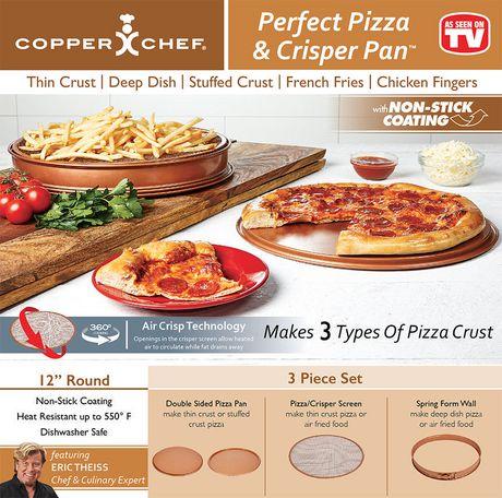 plaque pizza et bac l gumes perfect pizza crisper pan de copper chef walmart canada. Black Bedroom Furniture Sets. Home Design Ideas