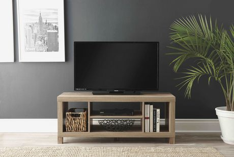hometrends Rustic Hollow Core TV Stand - image 2 of 3