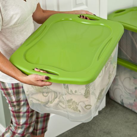 Sterilite 66L Easy Carry Storage Box- Spicy Lime - image 2 of 2