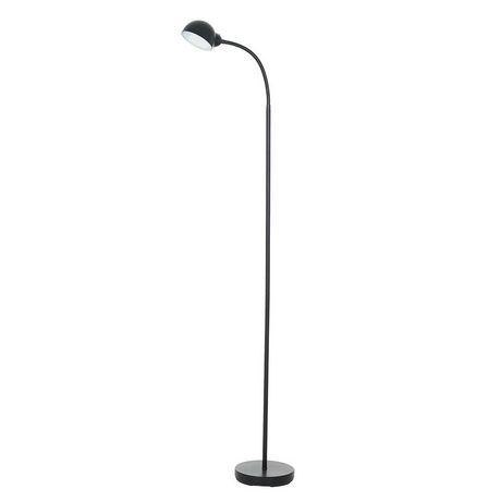 Mainstays Black Gooseneck Led Floor Lamp With Plastic
