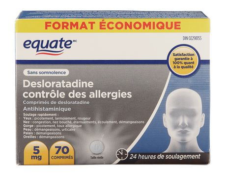 Equate 5 mg Desloratadine Allergy Control Tablets - image 2 of 2