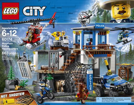 Lego City Mountain Police Headquarters 60174 Building Kit 663 Piece