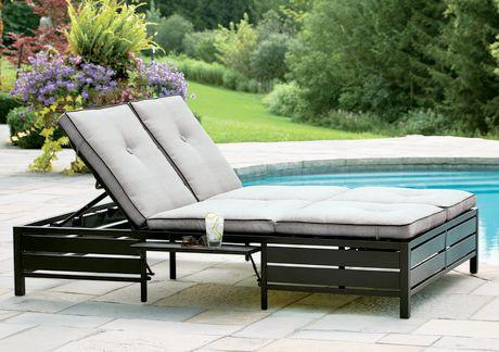 hometrends venice double lounger walmart canada. Black Bedroom Furniture Sets. Home Design Ideas