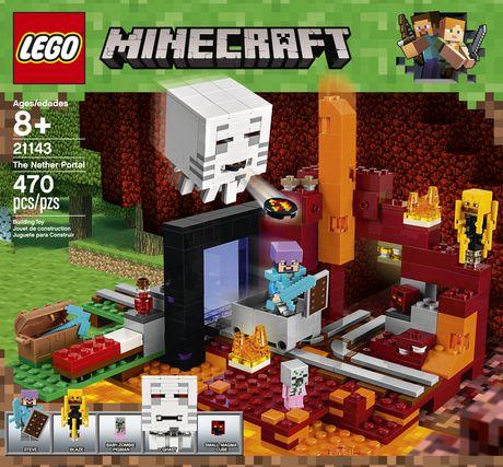 LEGO Minecraft The Nether Portal 21143 Building Kit (470 Piece)