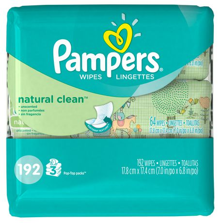 Pampers Natural Clean Wipes 192 Count Walmart Canada