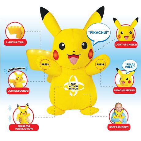 Pokémon Power Action Interactive Plush Pikachu - image 2 of 8