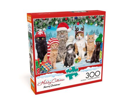 Buffalo Games Adorable Animals Meowy Christmas 300 Piece Jigsaw Puzzle - image 3 of 3