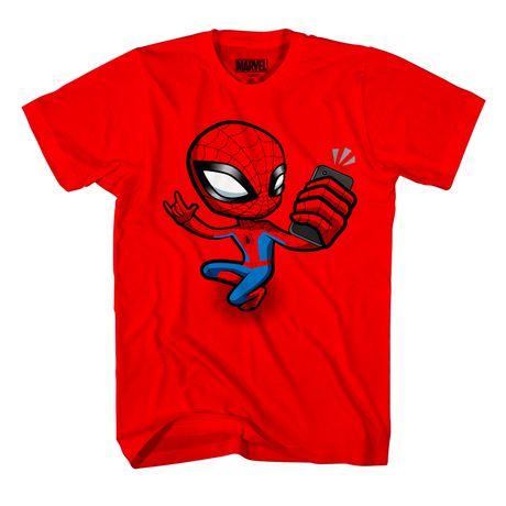 a7ed76f8 Marvel Spiderman Boys T-shirt Spidey Selfie - image 1 of 2 ...