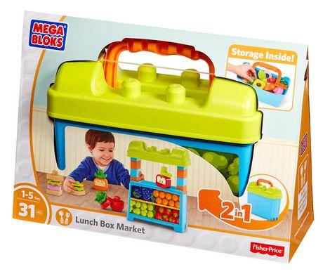 Mega Bloks First Builders Lunch Box Market Building Set Mattel DPJ54