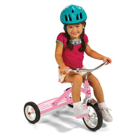 Radio Flyer Classic Pink Tricycle with Push Handle - image 2 of 8