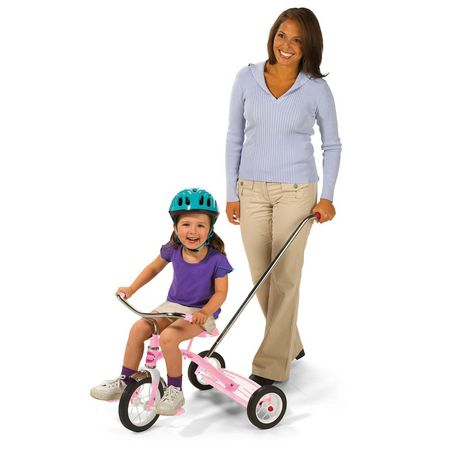 """Radio Flyer Girls Classic Pink 10"""" Tricycle w/ Push Handle™ - image 4 of 7"""