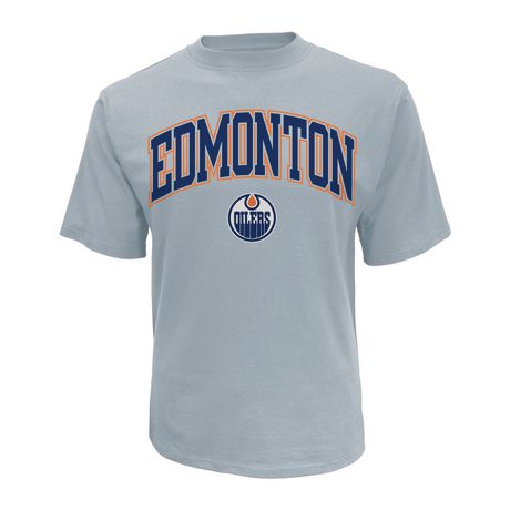 huge selection of 2e9be 055b2 NHL Men s Edmonton Oilers Crew Neck short Sleeve Classic Fit T-Shirt -  image 1 ...