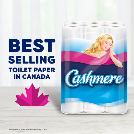 Cashmere Soft & Thick Toilet Paper, Hypoallergenic and Septic Safe, 30 Double Rolls = 60 Single Rolls - image 2 of 9