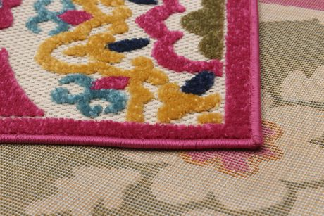 EcarpetGallery Verandah Dark Pink Polypropylene Rug - image 3 of 5