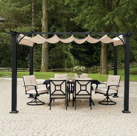 hometrends Retractable Shade Pergola - image 1 of 3