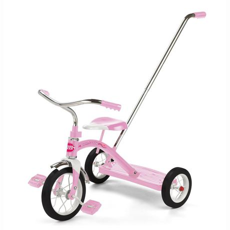 Radio Flyer Classic Pink Tricycle with Push Handle - image 7 of 8