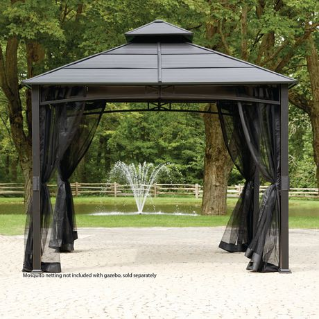 hometrends hard top square gazebo walmart canada. Black Bedroom Furniture Sets. Home Design Ideas