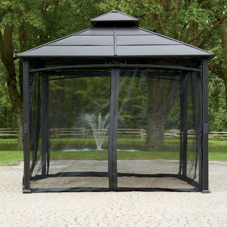 Moustiquaire pour abri de jardin hometrends de 3 m x 3 m (10 pi. x ...