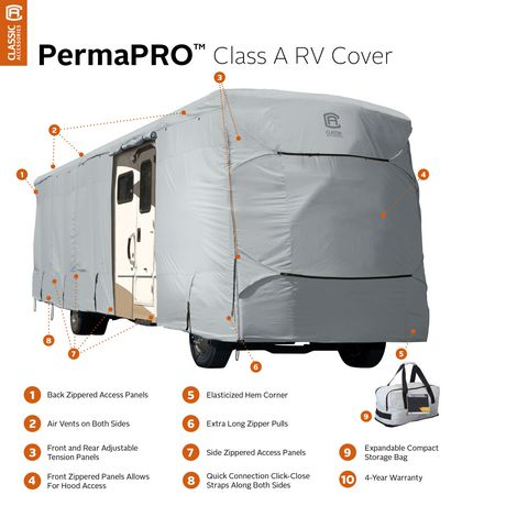 "Classic Accessories Permapro Class A Rv Cover, Fits 28' - 30'L 122"" MAX H - image 2 of 8"