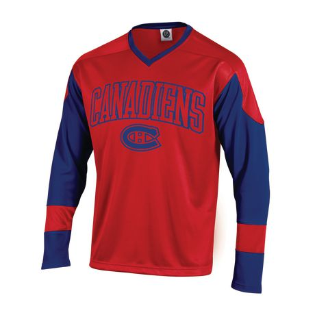 NHL Men s Montreal Canadiens Long Sleeve V-Neck T-Shirt  96796e14aba