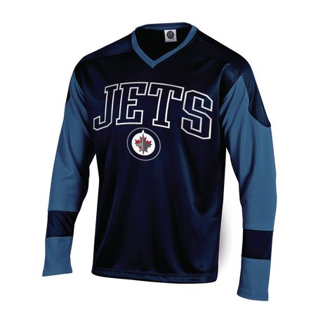 4589857e6c7 NHL Men s Winnipeg Jets Long Sleeve V-Neck T-Shirt - image 1 ...