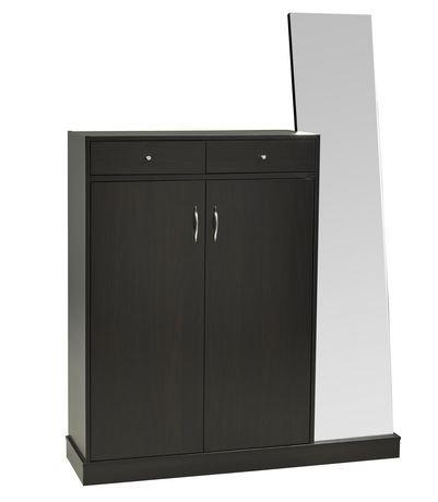 Brassex Shoe Cabinet With Mirror