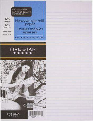 Five Star Refill Paper