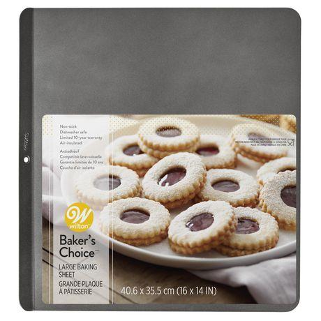 Wilton Plaque antiadhésive à biscuits à couche d'air isolante de 14 x 16 po Baker's Choice - image 1 de 5