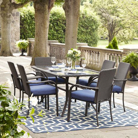 hometrends tuscany 7 piece dining set walmart canada rh walmart ca walmart patio tables only walmart patio table with umbrella hole