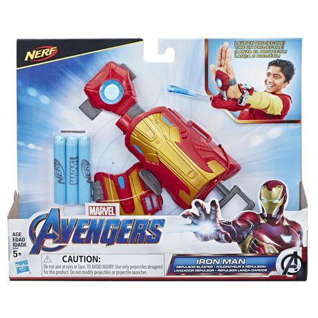 Marvel Avengers Gant Foudroyeur à répulsion Iron Man avec fléchettes Nerf pour jeu de rôle et de déguisement - image 1 de 8