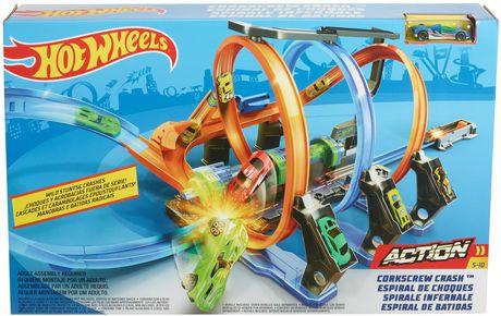 Hot Wheels Corkscrew Crash Track Set - image 9 of 9