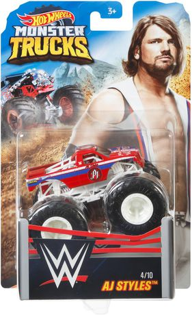 Hot Wheels Assorted Wwe Monster Trucks Styles May Vary Walmart Canada