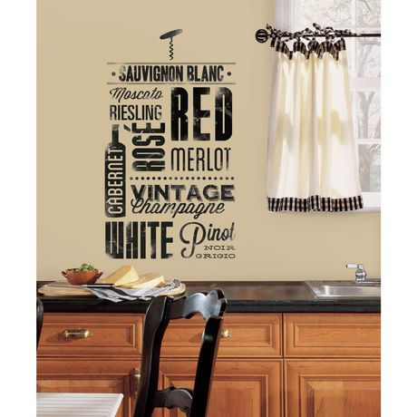 roommates wine lovers peel and stick wall decals | walmart canada