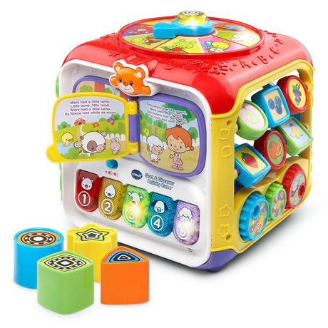 vtech sort discover activity cube interactive learning. Black Bedroom Furniture Sets. Home Design Ideas