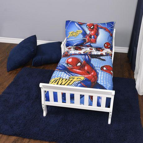 Marvel Spiderman 3-Piece Toddler Bedding Set | Walmart Canada